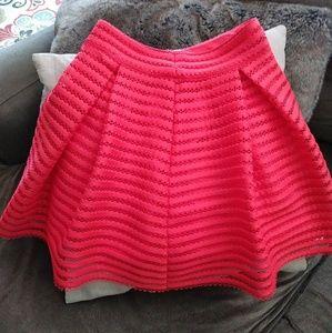 Coral full skirt
